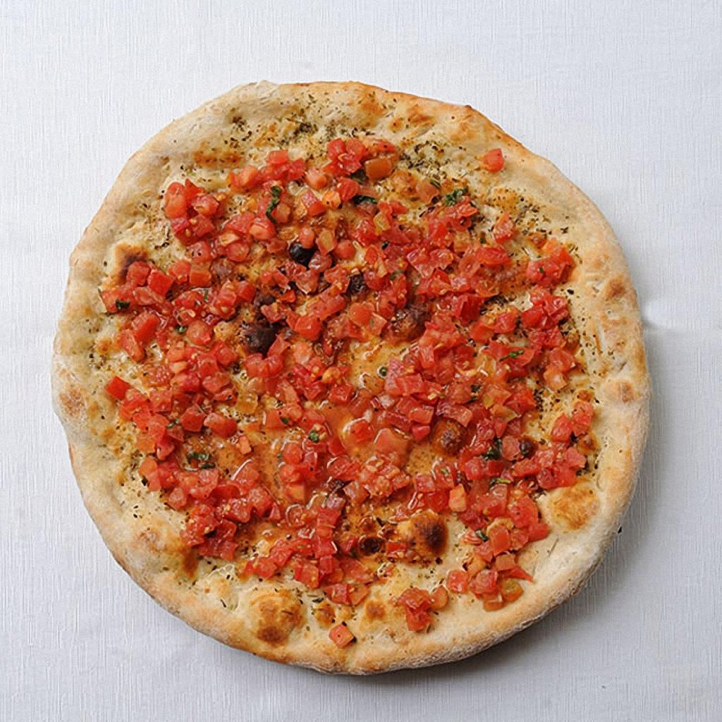 Focaccia con Ajo, Tomate y Orégano